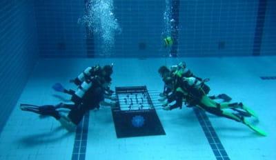 en septembre 2008, des plongeurs allemands ont participé à un tournoi pendant