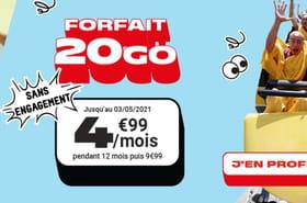 Bon plan forfait mobile: retour du forfait 20Go pour 4,99euros par mois chez NRJ!
