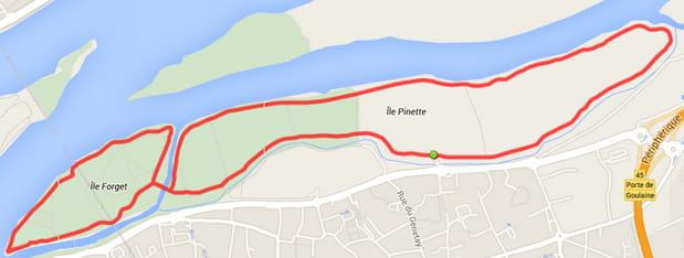 Nantes  : île Forget et île Pinette (6,6km)