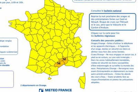 Alerte météo: les départements concernés par l'alerte pluie-inondation