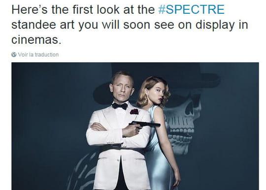 James Bond Spectre : Léa Seydoux s'affiche au côté de Daniel Craig