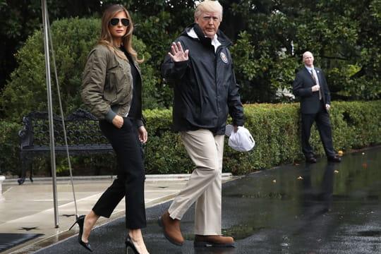 Melania Trump: à Houston, sa tenue interpelle [VIDEO]