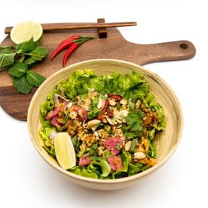 Entrée : Thai at Home  - Salade de riz Croustillant (Nem Thadua) -   © thai at home