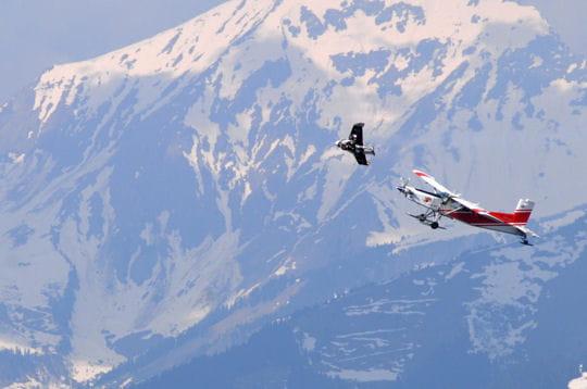 Un saut en avion
