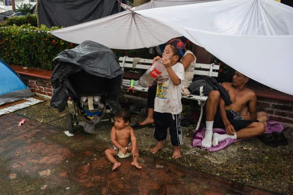 La caravane des migrants atteint 100 kilomètres parcourus au Mexique 10963750