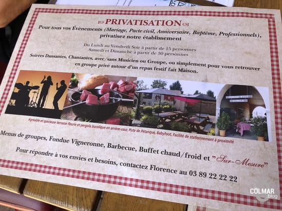 Aux Trois Couleurs  - Possibilité de privatiser le restaurant Aux Trois Couleurs à Colmar -   © Colmar.blog