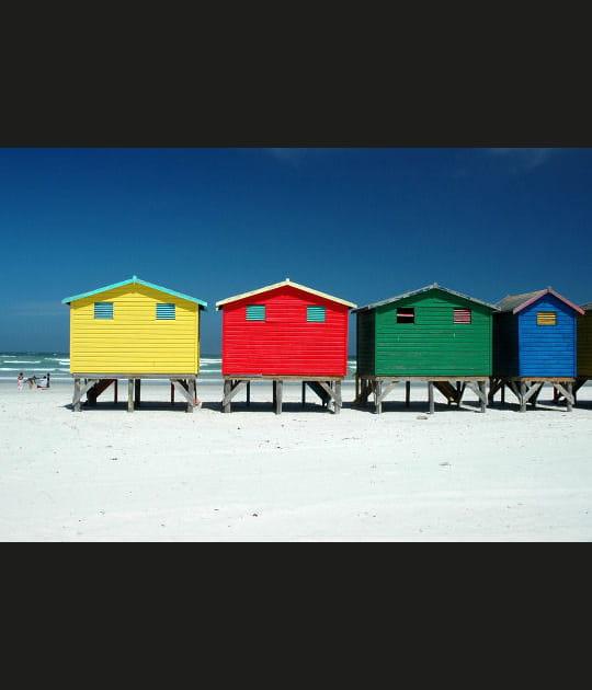 Cabines aux 4couleurs en Afrique du Sud