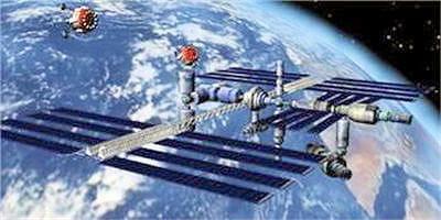 en 2020, la station spatiale internationale servira de port d'attache.