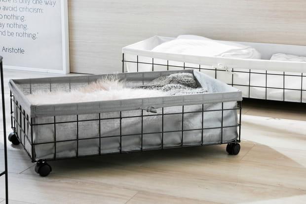 Des tiroirs pour ranger sous le lit