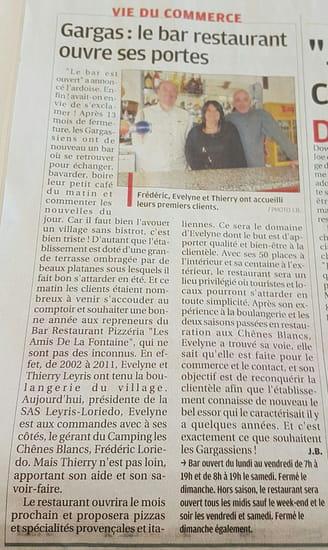, Restaurant : Les Amis de la Fontaine  - Nouveaux propriétaires -   © Evelyne LEYRIS