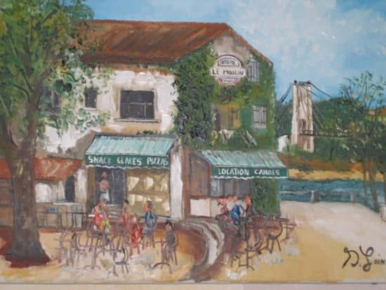 La Guinguette du Moulin  - Tableau -   © Sylvain Laine