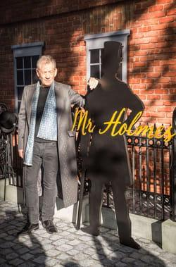 Ian McKellen pose pour les photographes à son arrivée à la première du film Mr Holmes à Londres.