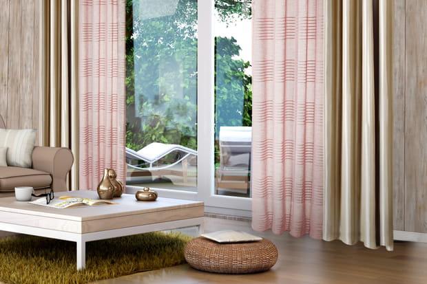des voilages sur une baie vitr e. Black Bedroom Furniture Sets. Home Design Ideas