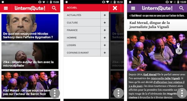 Application Android Linternaute.com