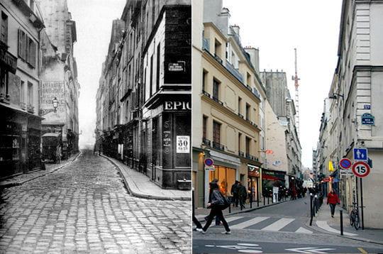 La rue des Canettes 1850/ 2007
