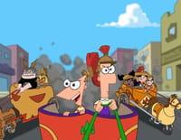 Phineas et Ferb : La course de chars. - Télé irréalité