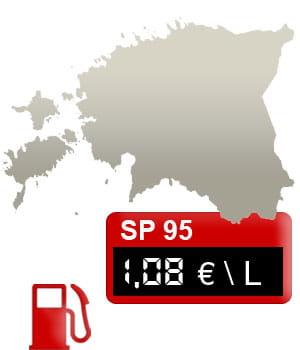 25 estonie 1 08 euro litre. Black Bedroom Furniture Sets. Home Design Ideas