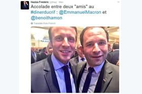 L'étonnant selfie Hamon - Macron au dîner du Crif