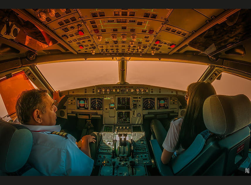 Cockpit brumeux