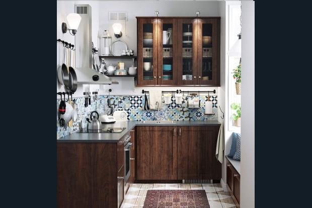 une cuisine esprit campagne. Black Bedroom Furniture Sets. Home Design Ideas