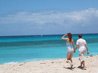 balade sur une plage paradisiaque