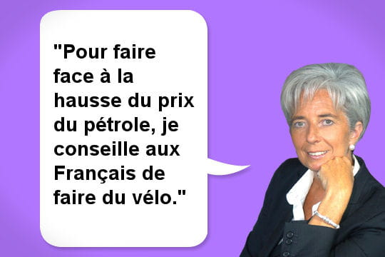 Christine Lagarde pédale...