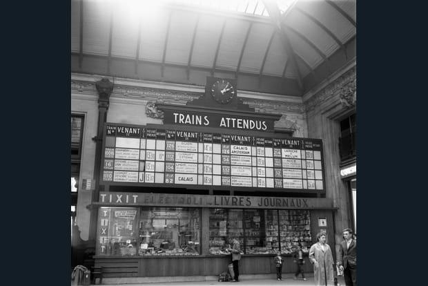 1958: Affichage des trains attendus