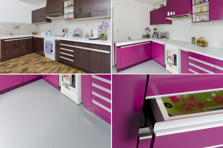 avant apr s le relooking complet d 39 une cuisine. Black Bedroom Furniture Sets. Home Design Ideas