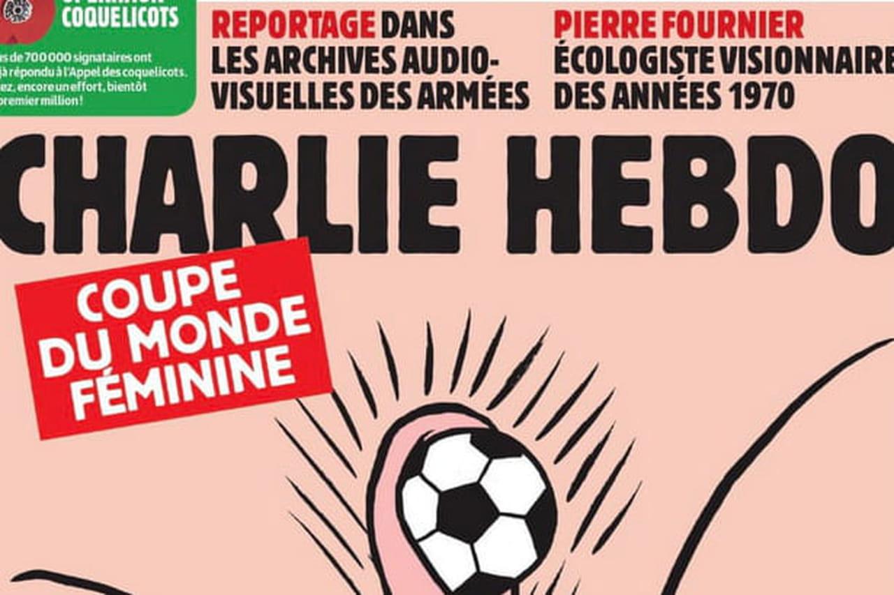 Charlie Hebdo: quand le journal s'attaque au foot, la une est explosive