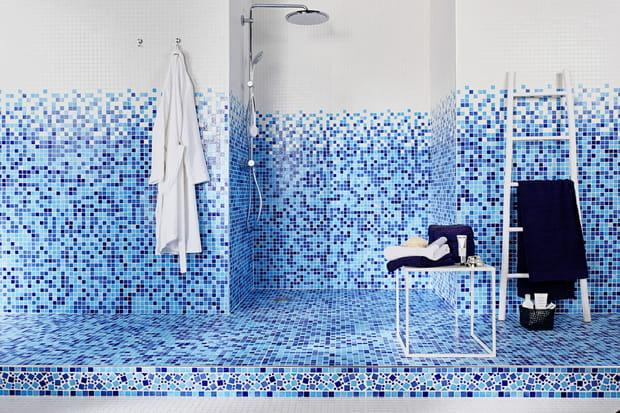 Choisir Des Carreaux Bleus Et Blancs Pour Salle De Bains Comme A La Piscine