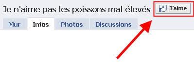 copie d'écran d'un groupe facebook.