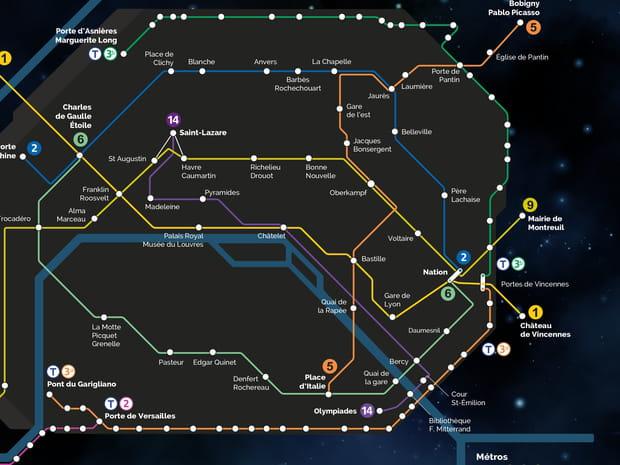 Métro la nuit: la carte RATP des lignes et stations ouvertes!