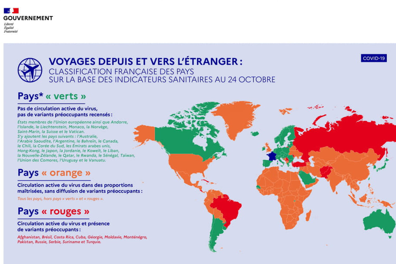 Voyage et Covid: 3pays des Balkans passent en rouge, nouvelle carte au 25octobre