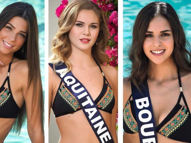 Candidates Miss France 2018: les jeunes femmes en maillot de bain