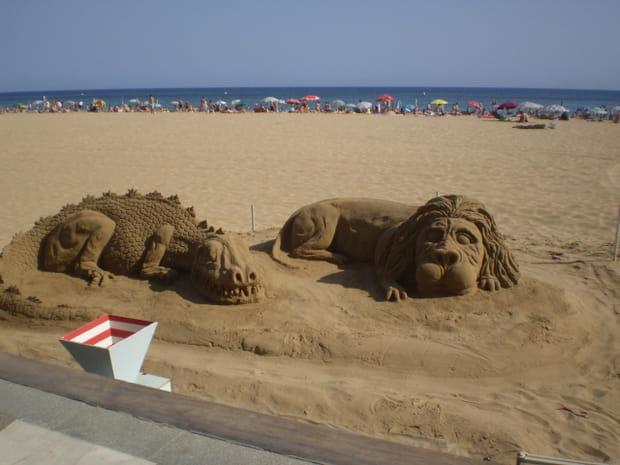 Benidorm et ses sculptures de sable