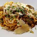 Plat : Portofino chez Gopi  - Les pâtes NATHAN : Oignons rouges, poivrons, courgettes, champignons, ail, sauce curry, crème -   © ChezGopi