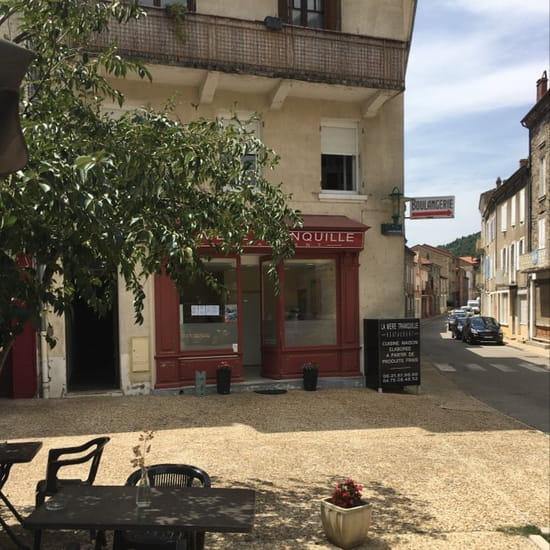 Restaurant : La Mère Tranquille  - Restaurant La Mère Tranquille.  Place de la République                  Lamastre -