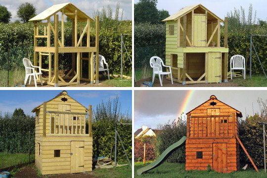 Cabane deux tages for Construction en bois 6 etages