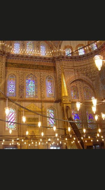 A l'intérieur de la Mosquée bleue