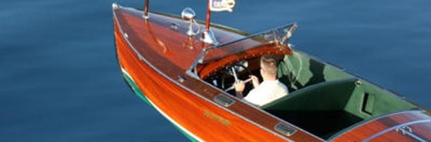 Yachts vintage sur le lac Tahoe