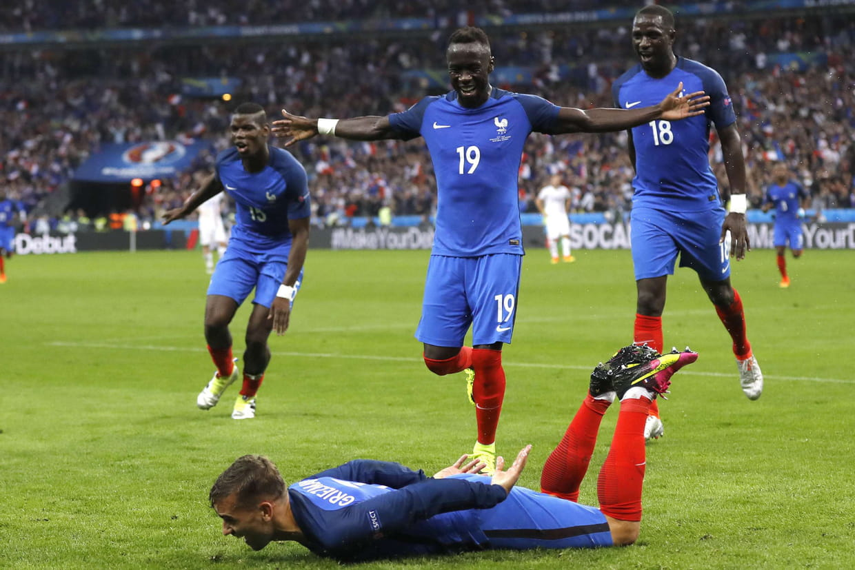 Foot r sultat france islande les bleus cartonnent - Resultat coupe d europe de foot ...
