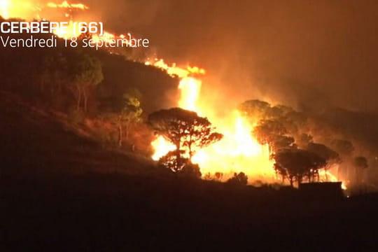 """Incendie à Cerbère [PHOTOS] : """"Ça ne peut être qu'un feu intentionnel"""""""