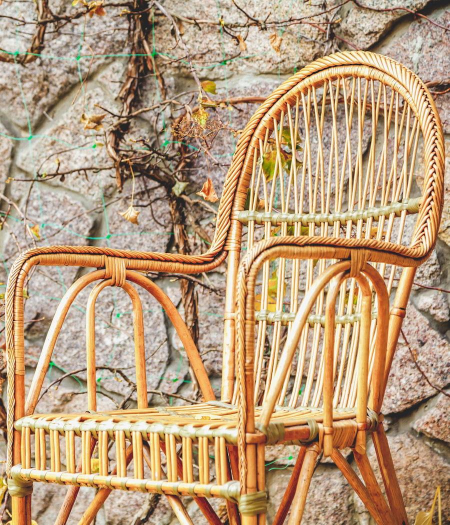 Nourrir le mobilier de jardin en rotin