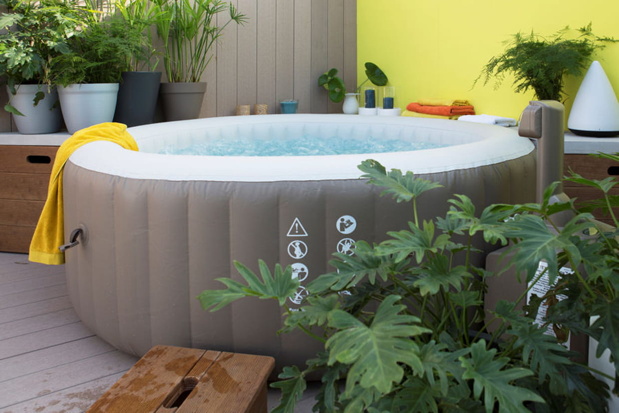 Amenagement Spa Gonflable Interieur un spa hors sol gonflable