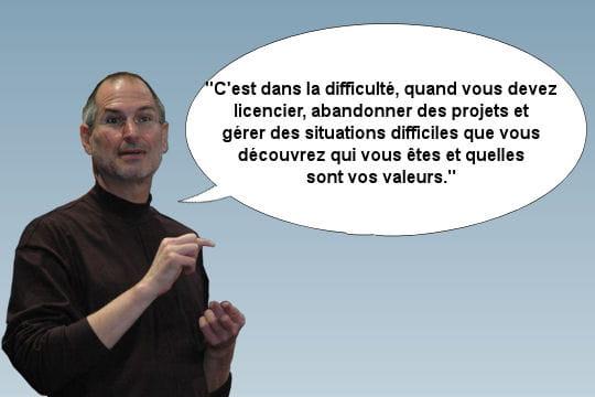 Steve Jobs, face à la difficulté inhérente au poste de DG