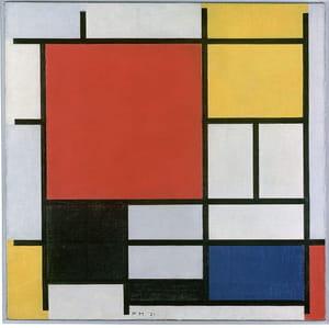 Piet Mondrian - Composition en rouge, jaune, bleu et noir