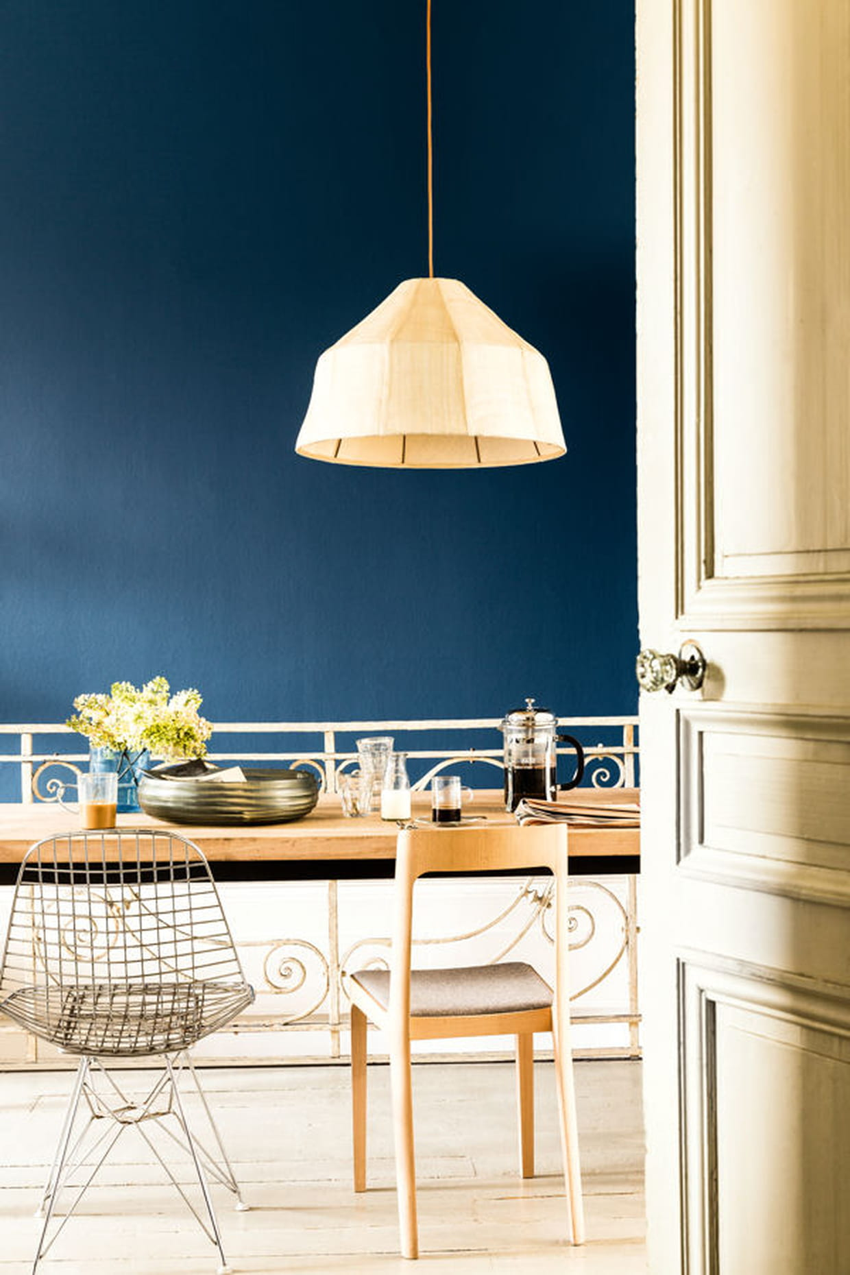 Du bleu canard pour la cuisine for Bleu paon dulux
