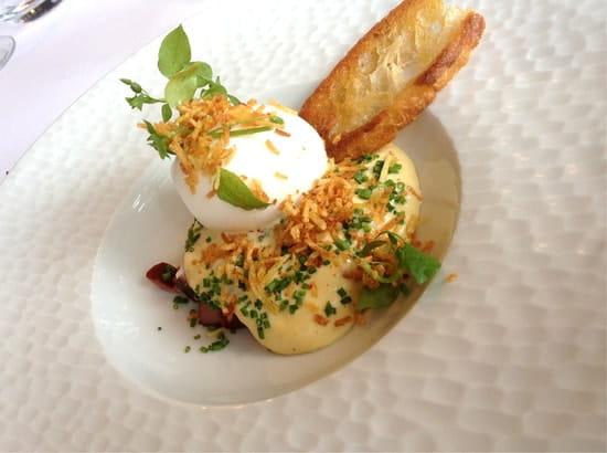 La Table d'Hôtes  - Oeuf Mollet,parmesan,mourron d'oiseau! -