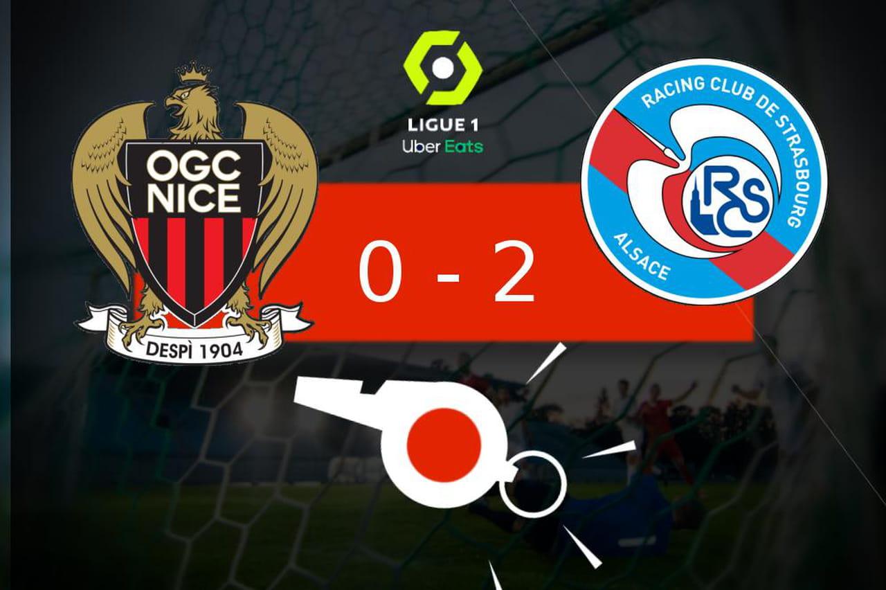 Nice - Strasbourg: joli coup pour le RC Strasbourg (0- 2), les moments clés du match