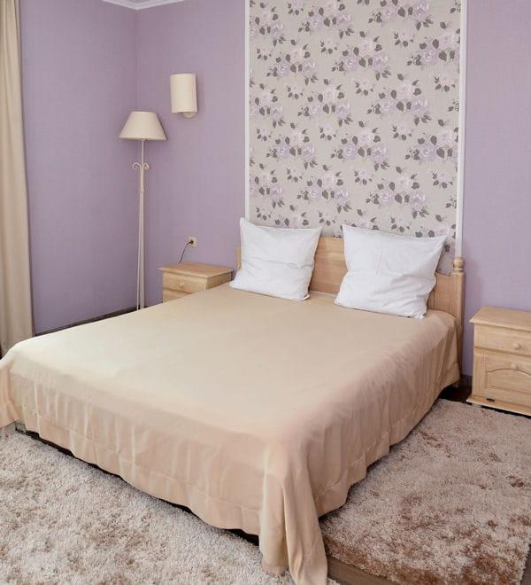 une chambre d adulte paisible. Black Bedroom Furniture Sets. Home Design Ideas